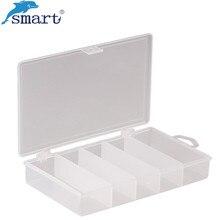 Portable Plastic Fishing Box 17.5*9.3*2.9cm 5 Compartments Fishing Boxes Storage Case Lure Boxes for Carp Fishing Tools Vissen
