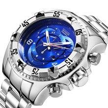 2ee44967b19f 2018 cara azul Relogio Masculino hombres del reloj de lujo famosa marca Top  vestido reloj militar cuarzo relojes Saat banda de M..
