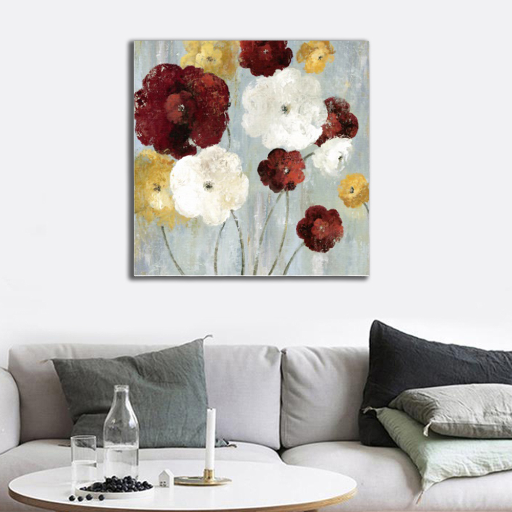 Laeacco Canvas Calligraphy Painting Abstract Watercolor Floral Poster and Print Nordic Home Decor Kitchen Dining Room Decoration