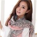 Ponto Rosa Outono Inverno Voile cachecol Mulheres Da Índia Bufandas Marca Cachecol Fashion Impresso Desigual xales e cachecóis