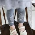 Nova Marca 2016 da Pele do Inverno Meninas Leggings Calças Dos Miúdos Das Crianças Grosso Quente Cintura Elástica Colorida Além de Veludo Calças Leggings Crianças