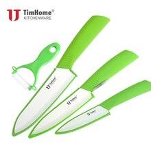 "Timhome Brand Originele 4 ""5"" 6 ""Keramische Mes Sets + Keramische Dunschiller + Covers Freeshippingknife setceramic knife setknife ceramic set"