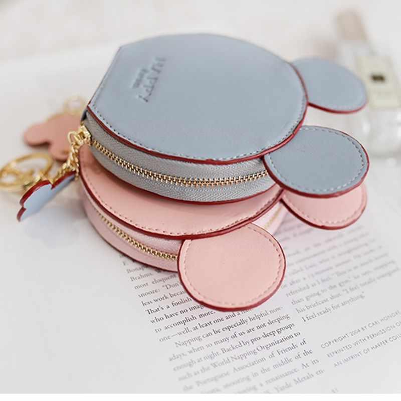 Arsmundi نساء جلد محفظة نسائية للعملات المعدنية دمية صغيرة محفظة صغيرة لطيف طالب تخزين حقائب للبنات Carteira الأنثوية حافظة للبطاقات عملة حقيبة