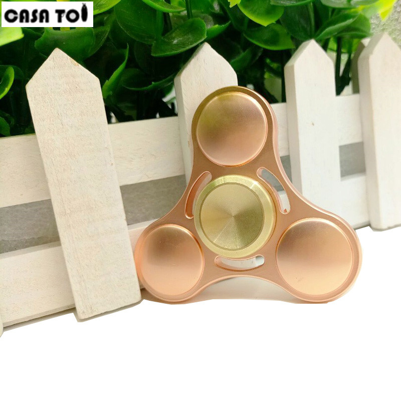 2017 Hand Spinner Colorful Fidget Toy  Rotation Time Long For Autism and ADHD Kids/Adult Funny Anti Stress Tri-Spinner Fidgets