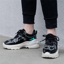 NAYIDUYUN   Breathable Creepers Shoes Women Lace Up Cow Leather Wedges Platform Ankle Boots High Heel Summer Pumps Punk Sneakers