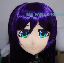 (KM174) Super Quality Handmade Female Resin Full Head Mask Cosplay Japanese Anime Role Kigurumi Mask Handemade Crossdress outfit