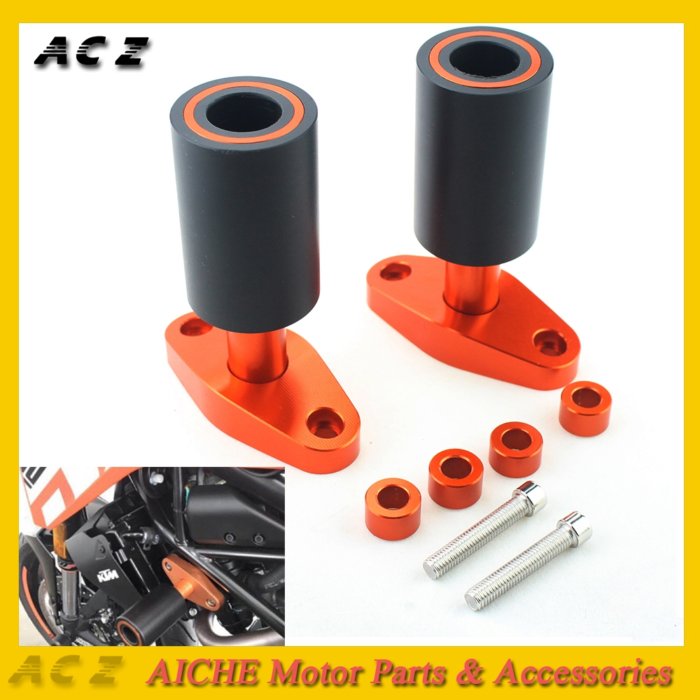 ACZ Motorcycle Parts Aluminum Frame Slider Guard Anti Crash Protector Pads Protection For KTM DUKE125 DUKE200