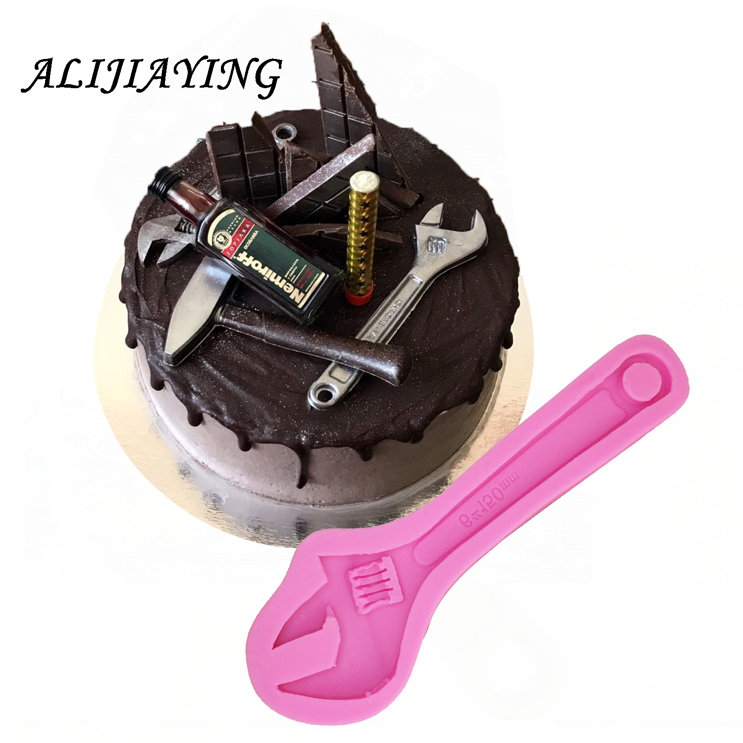 DIY Repair tools Silicone Mold Wrench Gadget Fondant Cake Mold chocolate Silicone Mould Cake decorating tools D0514 gadget