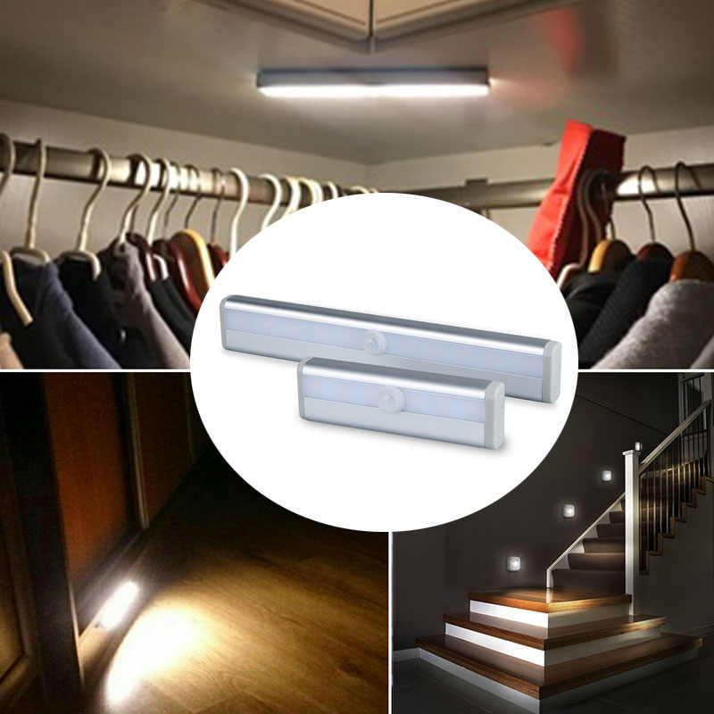 Battery Powered Led Under Cabinet Light Infrared Sensor Lamp 6