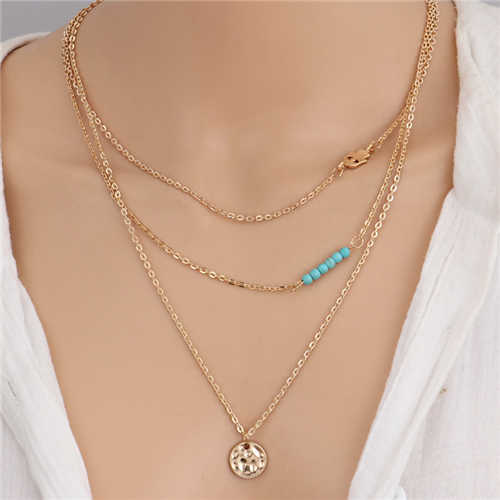 Seblasy, богемные бусы из натурального камня, колье и кулоны в виде якоря мира, ожерелья и подвески для женщин, многослойная Очаровательная цепочка, ювелирное изделие