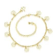 Wholesale New Fashion Women Fine Jewelry Woman Zircon Anklets Bracelet Female Foot Chain YMW-ZD103