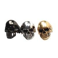 3pcs Lot Gothic Men S Huge Heavy Skull 316L Stainless Steel Biker Ring