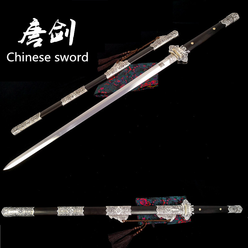 100% Handmade T10 <font><b>1095</b></font> <font><b>Steel</b></font> Battle Saber Chinese Tang Dynasty Sword Dao Full Tang Blade image