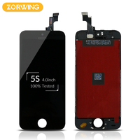 10PCS Wholesale 100 No Dead Pixel Replacement Screen LCD For IPhone 5S Display Touch Screen With