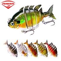 6pc/lot New 6 Sections Fishing Lure 0.5oz 14g/8cm 3.15 Swimbait Fishing bait 8# Black Hook Fishing Tackle