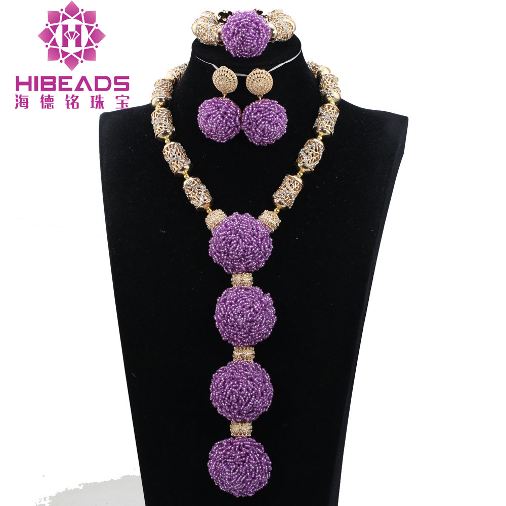 2017 New Lilac Purple Bridal African Beads Jewelry Set Romantic Lavender Bridesmaid Dresses Wedding Party Jewelry Sets ABH390 ботинки tapiboo tapiboo ta036abcumk8