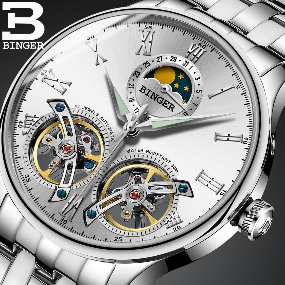 Moda diseño doble Tourbillon hombres de lujo reloj mecánico automático  BINGER famosa marca reloj relogio masculino 2017 en Relojes automáticos de  Relojes en ... 788c05536b43