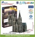 new clever&happy land   3d puzzle model  Cologne Cathedral  diy paper model puzzle toy games for children paper