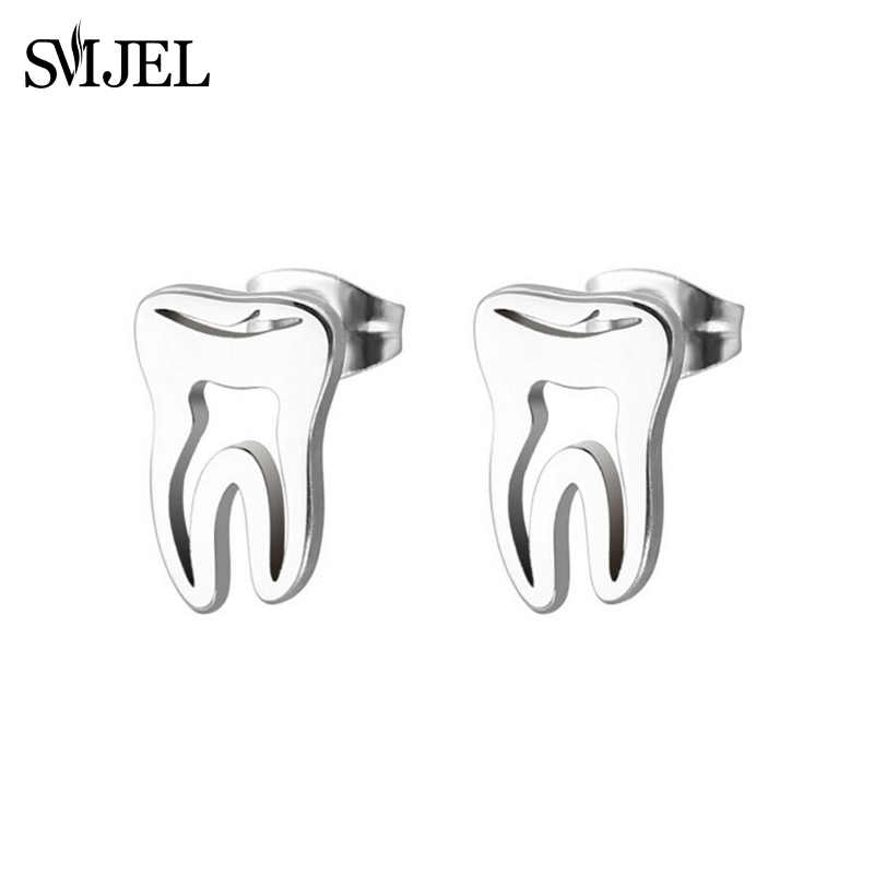 SMJEL Fashion Tooth Stud Earrings for Women Girls Doctor Earring Office Style Medical Jewelry Gift for Nurse Doctor Accessories