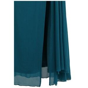Image 5 - エンジェル · ファッションビーズワンショルダーシルプリーツドレープイブニングドレス vestido デ noiva 411 グリーン