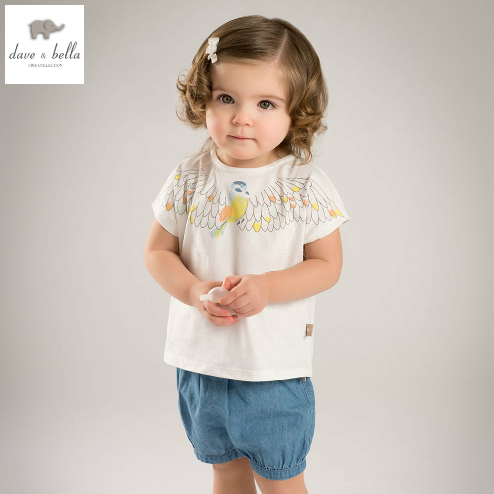 DB5879 dave bella summer baby girls clothing sets children lovely sets kids toddle cloth baby fancy clothes children sets