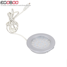 LED car light modern 2w round surface bar under cabinet decorative lamp for home (6pcs/lot)