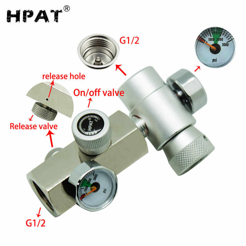 SPUNKY New CGA320 CO2 Cylinder Refill Adapter Connector Homebrew Kit for  Filling SodaStream Tank