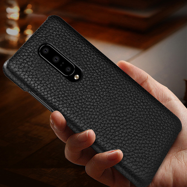 Genuine Leather Case Cover For OnePlus 7 Pro Retro Real Cowhide Leather Ultra Thin Slim Back Cover for One Plus 7 Pro