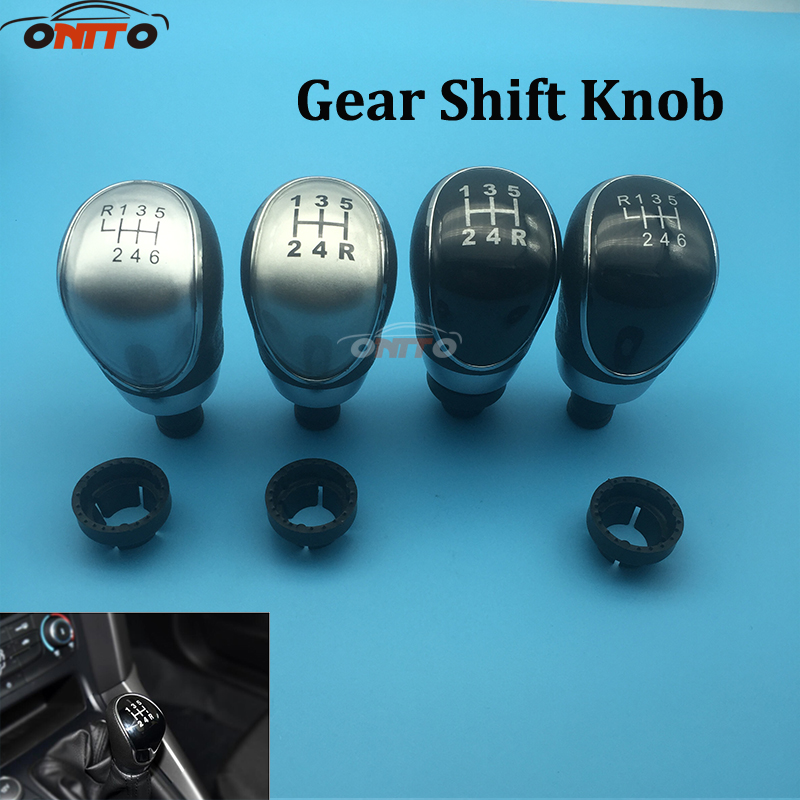 1pcs 6 speed 5 Speed Car Gear Shift Knob For Ford Focus MK3 for Fiesta MK7 C-max for Mondeo mk4 2007-2013