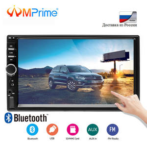 Amprime Radio-Player Autoradio Car-Models Bluetooth 7018B 2din Camera Backup Lcd-Touch-Screen