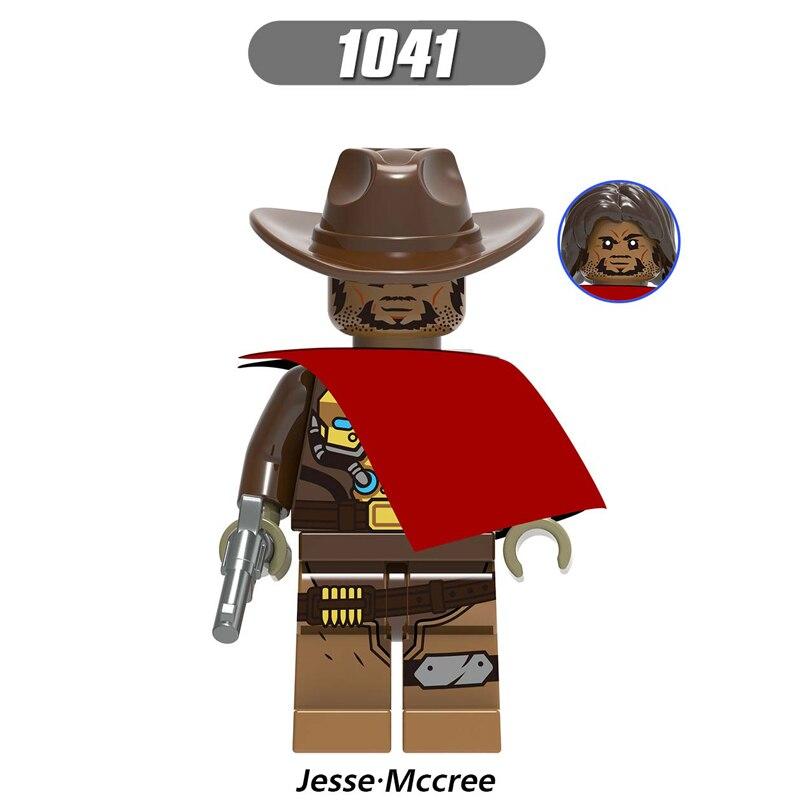 Overwatching Legoe Bausteine EIGENEN Minifigured Spielzeug D  va Jesse   mccree Reaper Soldat 76