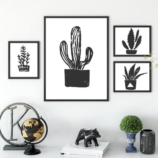 US $4.54 35% OFF|Nordic Abstrakte Wandkunst Kaktus Decor Wandbilder Für  Wohnzimmer Wohnkultur Leinwand Malerei Poster Und Druckt Keine Rahmen in ...