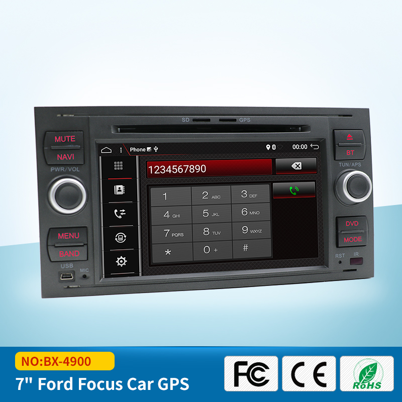 Pure Android 7.1 Car DVD GPS Navi Player Stereo Radio Audio 4G For Ford Focus 2 Mondeo S C Max Fiesta Galaxy Connect