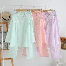 Материал хлопок бюст 100-108 см Пижама роковой Котон женские пижамы для сна Roupa de dormir feminina 1012