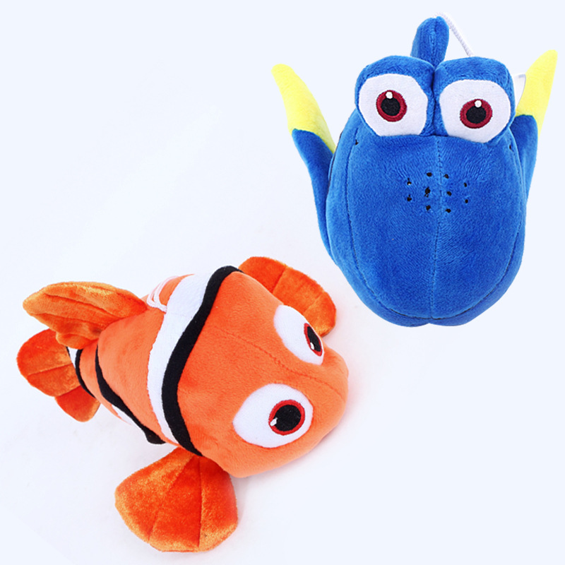 2pcs/lot 25cm Finding Dory Nemo & Dory Fish Plush Toys Soft Stuffed Cartoon Animals Toys Gifts for Kids Children Christmas children cartoon animals hanging outdoor basket toys