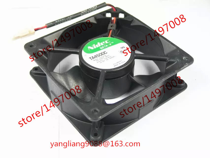 Free Shipping For Nidec A33534-58 DC 24V 0.45A 3-wire 3-Pin connector 70mm 120x120x38mm Server Square Cooling Fan free shipping for delta afc0612db 9j10r dc 12v 0 45a 60x60x15mm 60mm 3 wire 3 pin connector server square fan