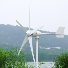 1000W horizontal wind turbine generator, 24V/48V, 3 blades wind mill, start up speed 2m/s, Used in land/boat цена