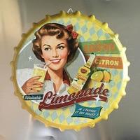 Tin Sign Orange juice drink Vintage Metal Painting Beer Cover Cafe Bar Hanging Ornaments Wallpaper Decor Plates Retro Mural