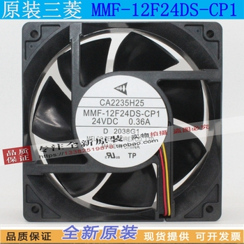 NEW MELCO MMF-12F24DS-CP1 FOR Mitsubishi servo FR-A800 frequency CA2235H25 12038 24V cooling fan