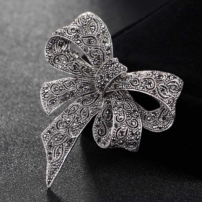 Blucome Cute Women Bow Brooches bridal Jewelry Antique ...