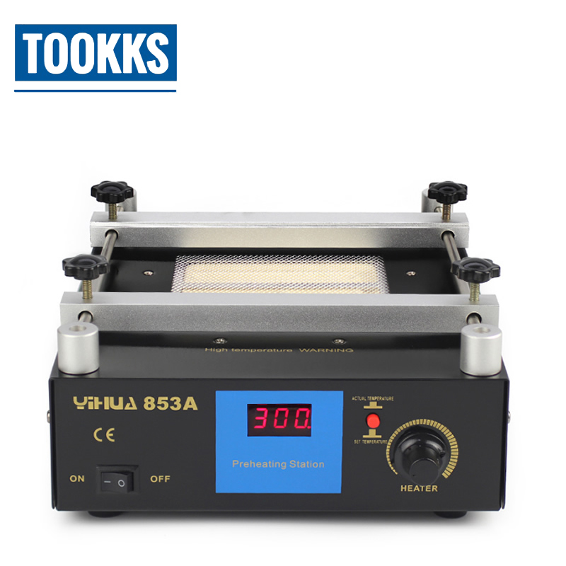 YIHUA 853A Digital Display Preheating Station Anti Static Constant Temperature  BGA Rework Station Mobile Phone Preheater
