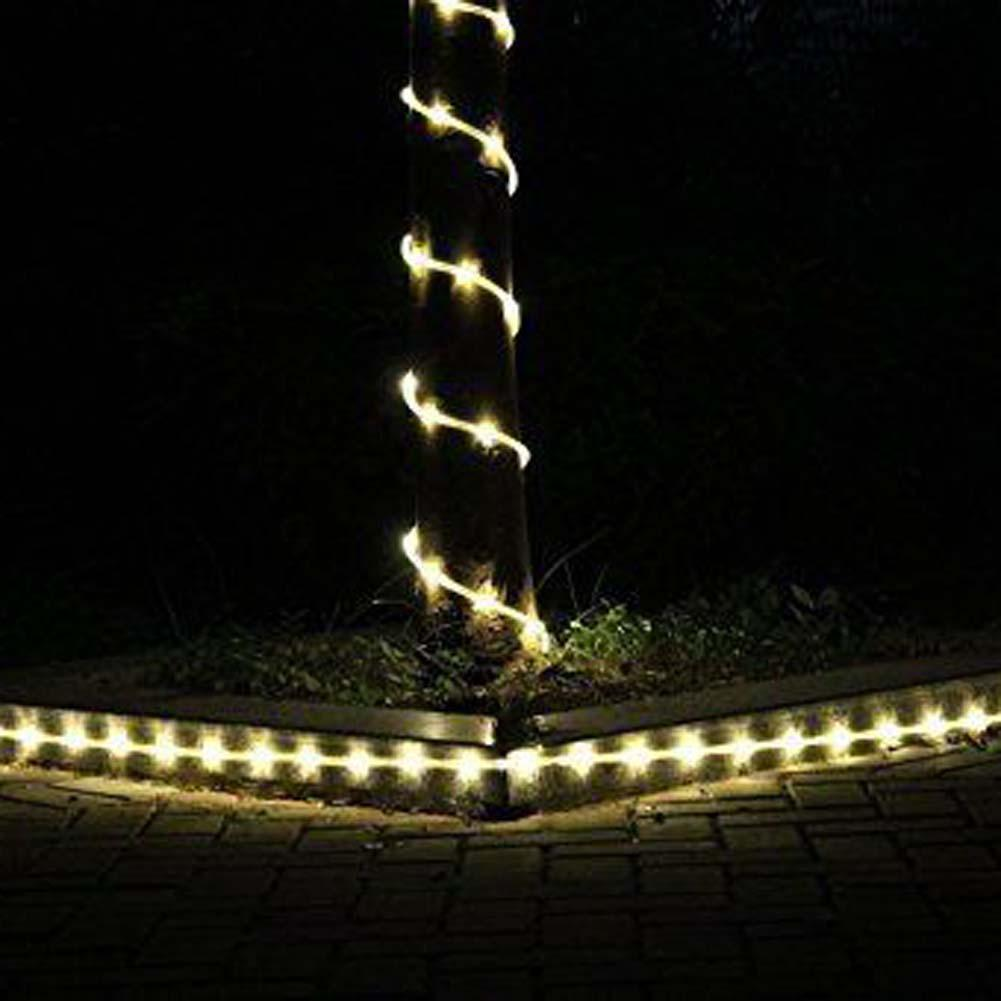 23ft 50led solar power rope tube light strip waterproof outdoor 23ft 50led solar power rope tube light strip waterproof outdoor garden wwhite christmas tree lights led light fixtures a609 in lighting strings from lights aloadofball Image collections