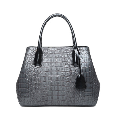 2018 novelty PU leather elegant tote handbag for OL lady office commuting one shoulder bag female luxury alligator pattern bag