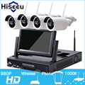 7 Inch Displayer 4CH 960P Wireless CCTV System Wireless NVR IP Camera IR-CUT Bullet Home Security System CCTV Kit Hiseeu