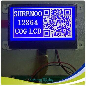 Azul gráfico 12864 COG módulo LCD con retroiluminación blanca de construir-en ST765R (sin Panel táctil)