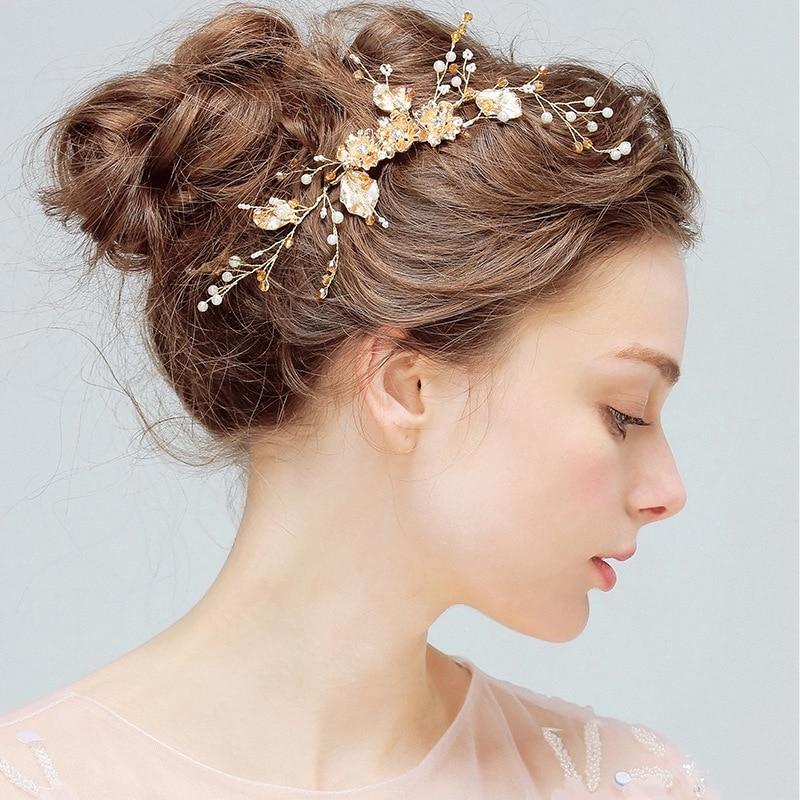 livraison gratuite design élégant remise pour vente € 11.18 42% de réduction|Perle cristal fleur Cheveux peigne mariée coiffure  mariée casque de mariage Cheveux accessoires Cheveux Bijoux Cheveux ...