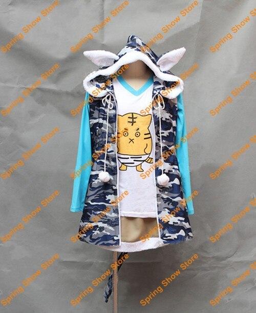 ᑐSuper Sonico Anime gato de tigre Cosplay Custom Made uniforme - a19 169f3b762fc31