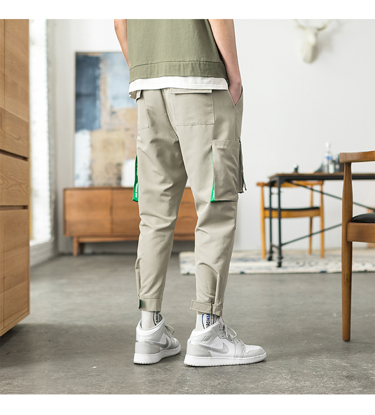 Men's Clothing Cargo Pants Latest Collection Of Only Discount Today Cargo Pants For Men Black Japanese Style Fashion High Street Stripe Pocket Homme Cargo Pants Zipper Elastic