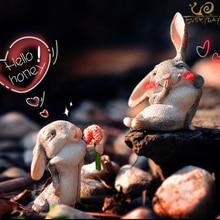 Повседневной коллекции 2 шт. радоваться причудливые пасхальное весна кролик настольный домашний акцент украшения День святого Валентина