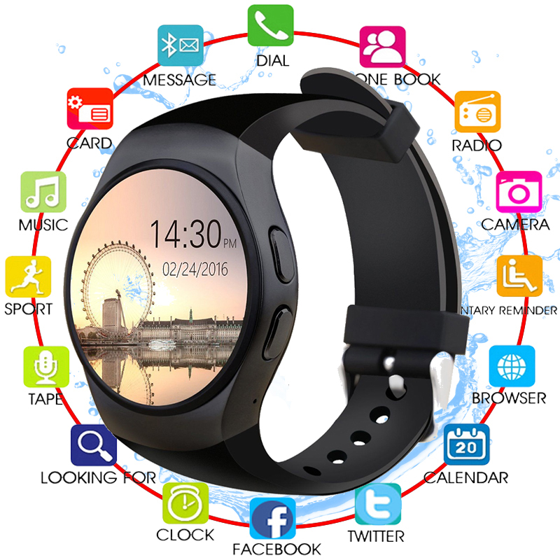 Horloge montre intelligente Android Tracker santé MTK2502 Bluetooth Notification prise en charge SIM TF carte pour Samsung Xiaomi apple android IOS